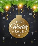 Design for seasonal winter sale.