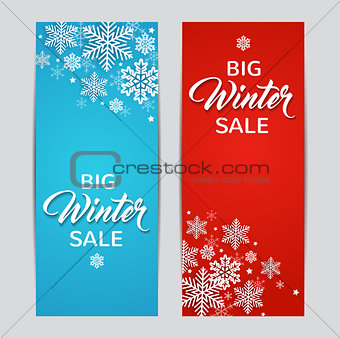 Blue and red winter backgrounds