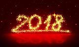 Happy New 2018 Year background .
