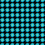 Forget me not flowers in rows seamless