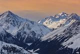 winter mountain landscape in Austria