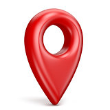 Red map pointer 3D