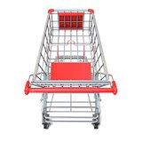 Shopping cart, top view. 3D