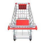 Shopping cart, top view. 3D