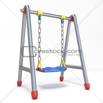 Single children swing 3D