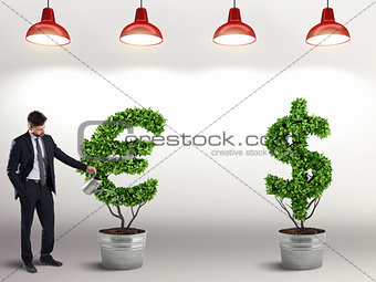 Ambition and skill of a businessman. 3D Rendering