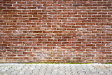 Brown brick wall.
