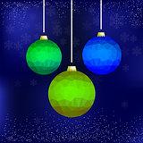 Set of Colorful Glass Balls