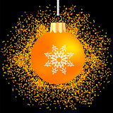 Orange Glass Ball