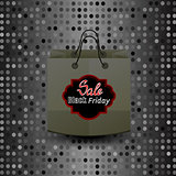 Shopping Paper Bag with Black Friday Sticker