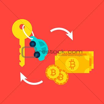 Car Bitcoin Concept