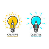 Symbol of creative idea - light bulb icon, design concept