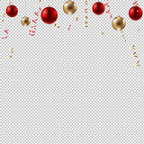 New Year Border With Balls