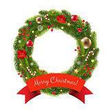 Xmas Fur Tree Wreath
