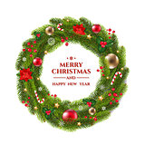 Xmas Wreath With Text