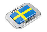 Made in Sweden, shiny badge