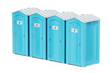 Portable plastic toilets