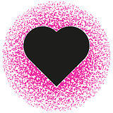 Black and pink valentine. Abstract pattern Vector