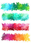 colorful geometric banner, vector set