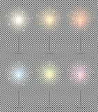 Bengal Lights Set. Christmas Sparkler Isolated on Transparent Ba