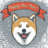 Year of the dog vector concept