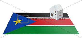 Small house on a flag - South Sudan