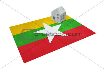 Small house on a flag - Myanmar