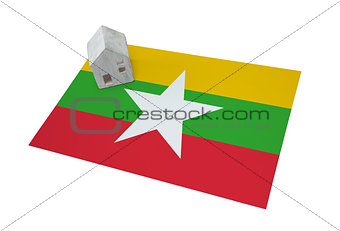 Small house on a flag - Myanmar