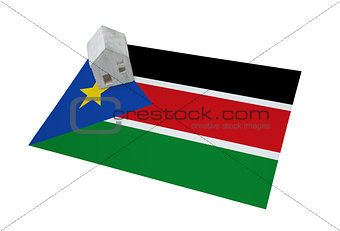 Small house on a flag - South Sudan