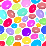 pattern with colorful candies