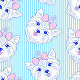 Seamless pattern with head of dog