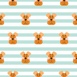 Puppy head seamless pattern cartoon design vector.