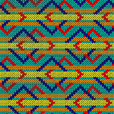 Knitting ornate seamless pattern