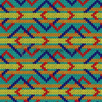 Knitting ornate seamless pattern
