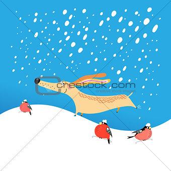 Christmas card funny dog