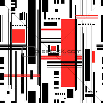 Abstract seamless pattern of geometric stripes