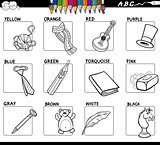 basic colors set for coloring with objects