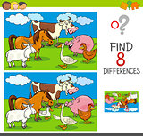differences activity with farm animal characters