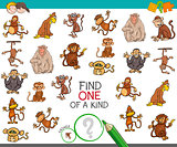find one of a kind with monkey characters
