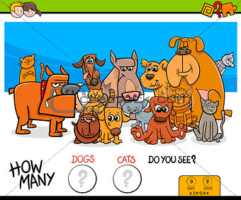 counting cats and dogs educational game for kids