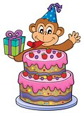 Cake and party monkey theme 1