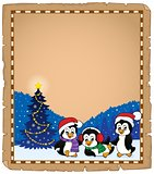 Christmas penguins thematic parchment 2