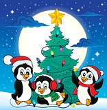 Christmas tree and penguins image 4