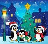 Christmas tree and penguins image 5