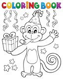 Coloring book party monkey theme 1