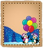 Happy party penguins parchment 1