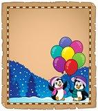 Happy party penguins parchment 1