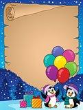 Happy party penguins parchment 2