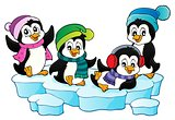 Happy winter penguins topic image 1
