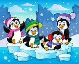 Happy winter penguins topic image 2